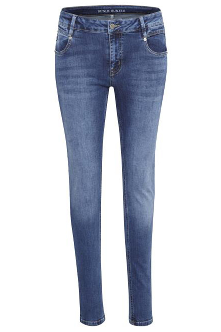 DENIM HUNTER 10702704 Malika Slim Custom Medium Blue Wash