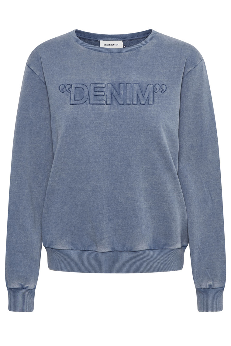 DENIM HUNTER Nola Sweat 10702761 Estate Blue washed