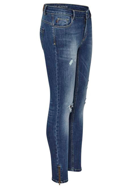 DENIM HUNTER CELINA ZIP TORN 10701894 BLÅ DENIM