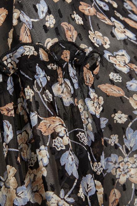 PART TWO 30304455 Japanese Flower, Black.