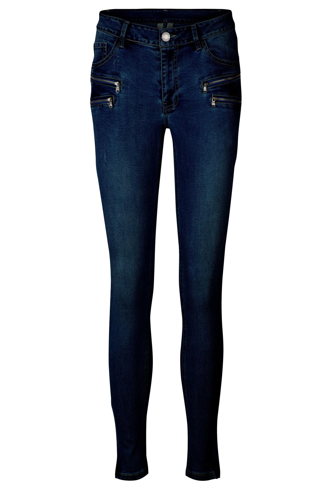 388e6692 AIDA-JE-DENIM MØRK BLÅ DENIM bukser fra Freequent - køb bukser online her