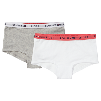 TOMMY HILFIGER BASIS SHORTY 2 pak - Grey Heather/White