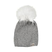 HUTTEliHUT KNITHUT LIGHT GREY/WHITE 49A