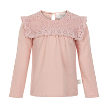CREAMIE T-SHIRT LS LACE 840021