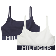 TOMMY HILFIGER BASIS STRING BRALETTE 2 PAK - White/Navy