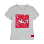 CALVIN KLEIN FLOWER PRINT T-SHIRT 00142