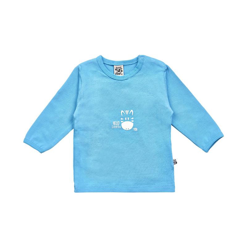 PIPPI BABY BLUSE BOMULD LS 4012 D (Deep Skye Blue 720, 74)