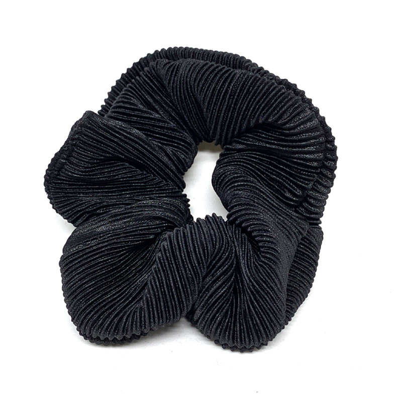 Image of   BOWS BY STÆR SCRUNCHIES 8410022 (Plisse Black, ONESIZE)