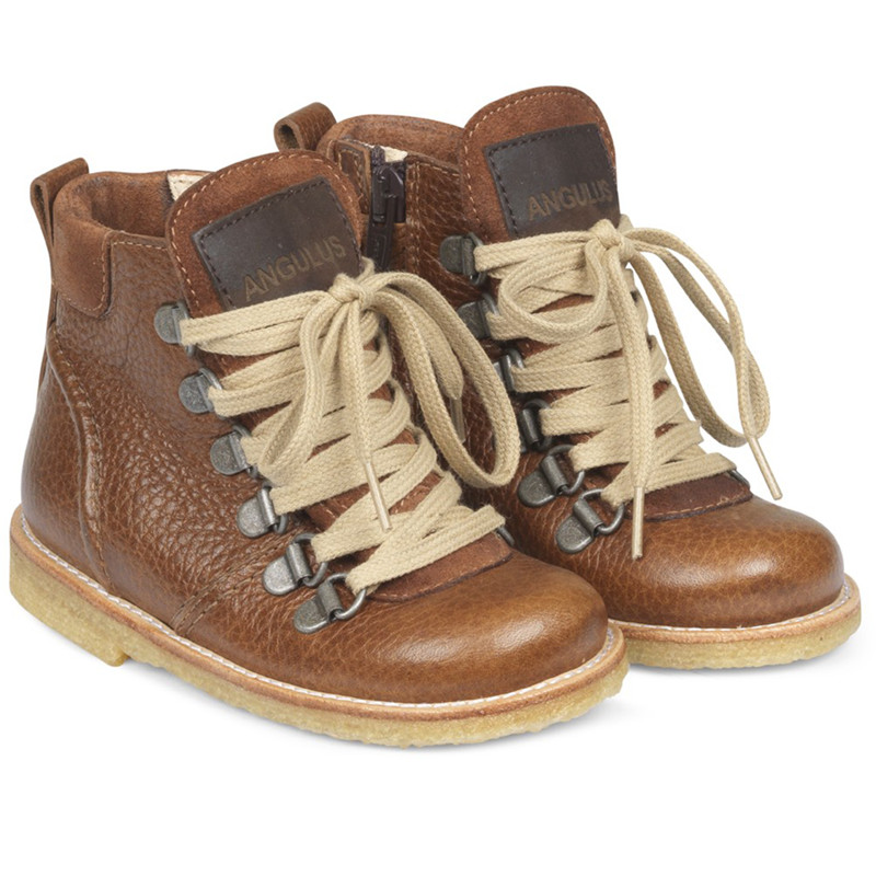 Image of   ANGULUS TEX BOOTS 2050-101 (Cognac/Brown, 25)