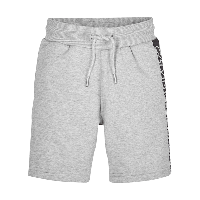 Image of   CALVIN KLEIN HERO LOGO SWEAT SHORTS 00484 PZ2 (Light Grey Heather, 128)
