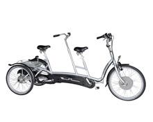 Trehjulet tandemcykel