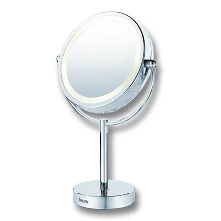 Kosmetikspejl på fod m. lys og 2 sider