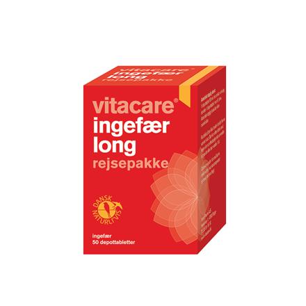 VitaCare Ingefær Long rejsepakke, 50 stk.