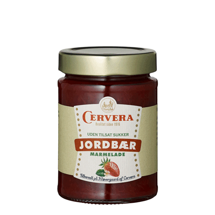 Cervera jordbær marmelade, uden tilsat sukker