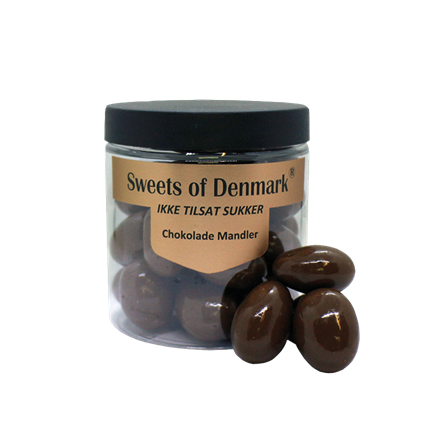 Sweets of Denmark chokolade mandler uden tilsat sukker, 150 g.