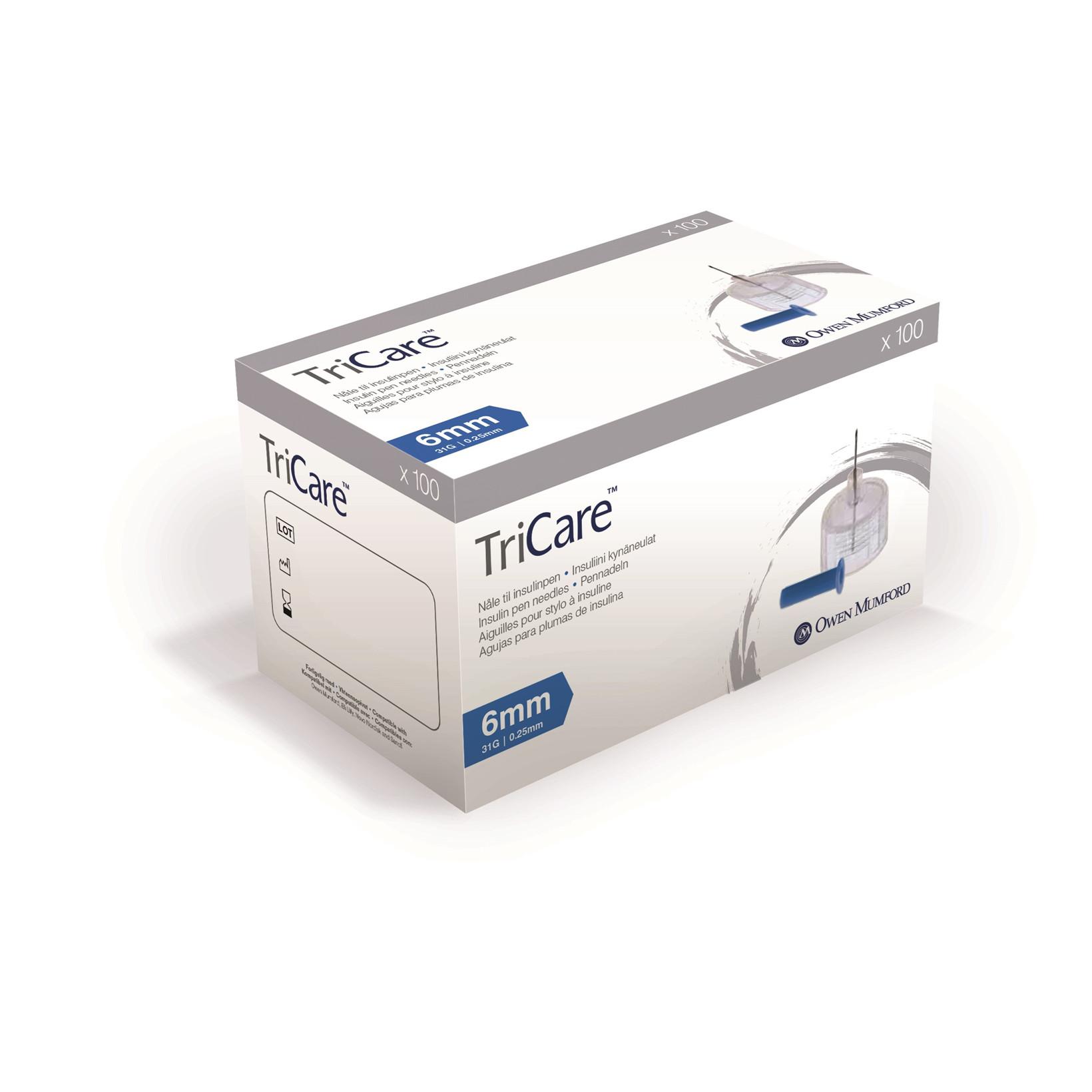 TriCare 0,25 x 6mm 31G penkanyle