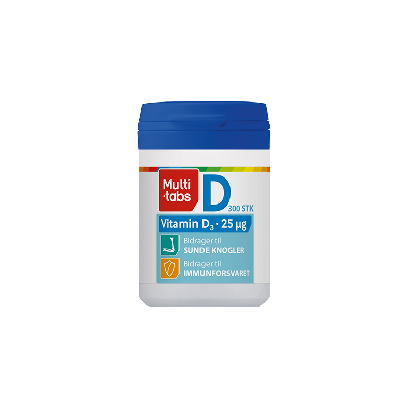 Multi tabs med D-vitamin - 300 stk.
