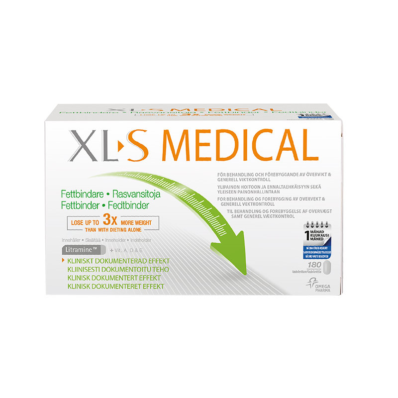 XLS Medical Fat Binder, 180 tabletter