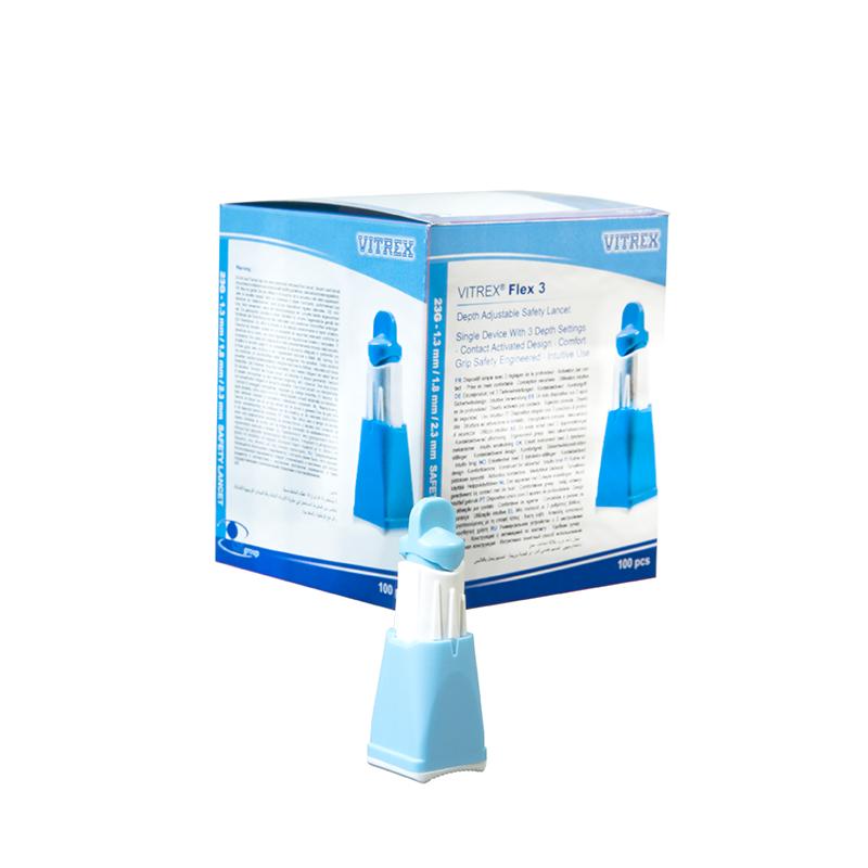 Vitex Flex 3 Blå 23G 1,3-2,3 mm, 100 stk.