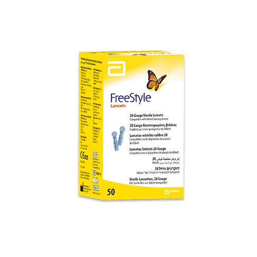 FreeStyle Lancetter 28G, 50 stk.