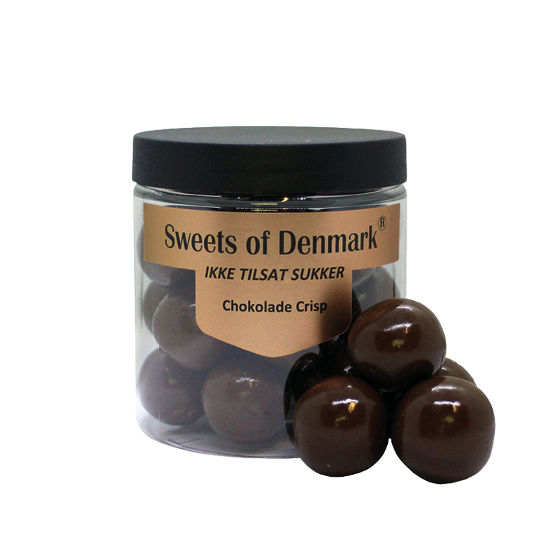 Sweets of Denmark chokolade Crisp uden tilsat sukker, 150 g.