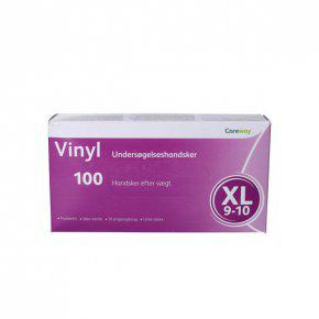 Careway Vinyl handsker str. XL u/pudder