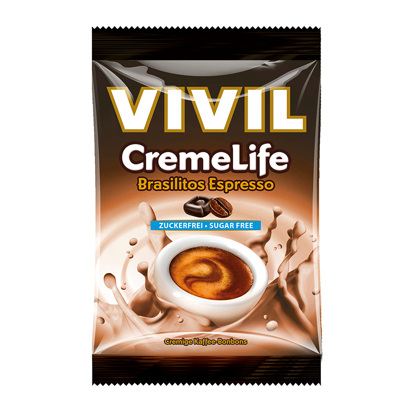 Vivil Creme Life Brasilitos Espresso, sukkerfri, 110g
