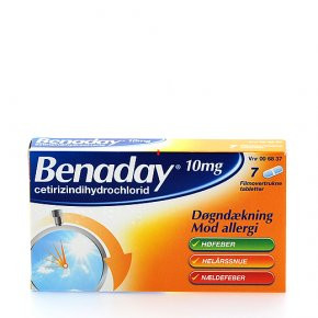 Benaday 10 mg., 7 tabl.