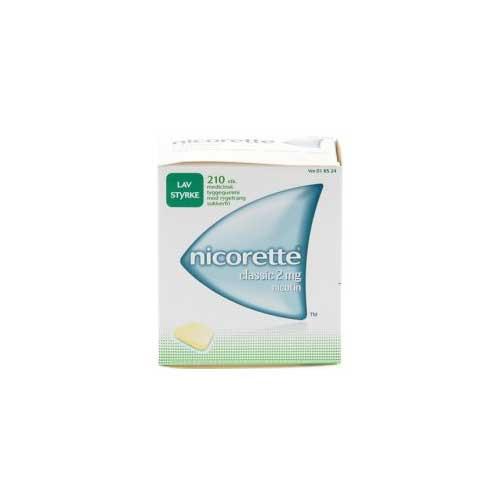 Nicorette Classic 2 mg, 210 stk