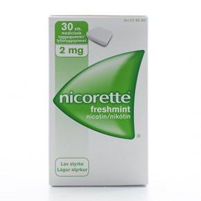 Nicorette Freshmint, 2 mg., 30 stk..