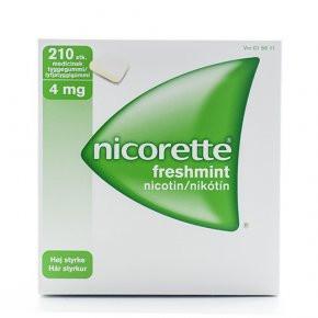 Nicorette Freshmint 4 mg, 210 stk. (blister)