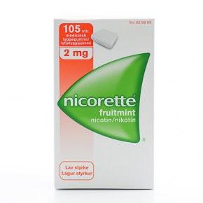 Nicorette Fruitmint, 2 mg., 105 stk.