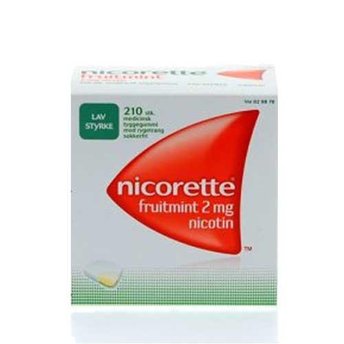 Nicorette fruitmint, 2 mg., 210 stk. blister