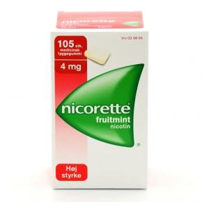 Nicorette Fruitmint, 4 mg., 105 stk. (Sukkerfri)