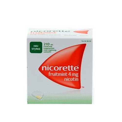 Nicorette fruitmint 4 mg, 210 stk