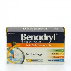 Benadryl 8 mg - 48 kaps