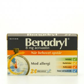 Benadryl 8 mg - 24 kaps