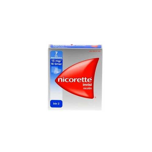 Nicorette invisi plaster 15 mg, 7 stk