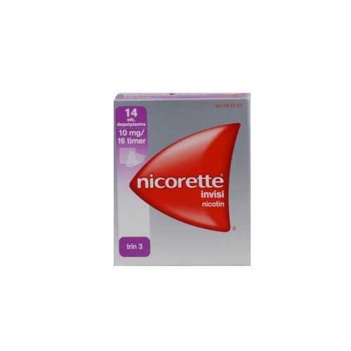 Nicorette invisi plaster 10mg, 14 stk