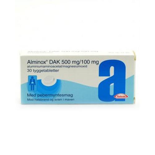 Alminox tyggetabletter, 30 stk.