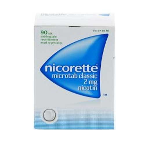 Nicorette Microtab Classic 2 mg, 90 stk