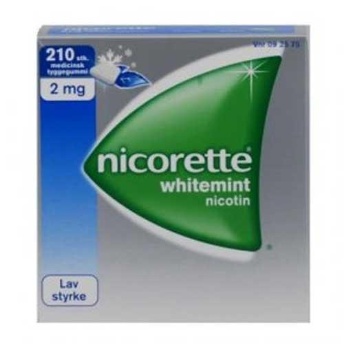 Nicorette Whitemint 2 mg, 210 stk