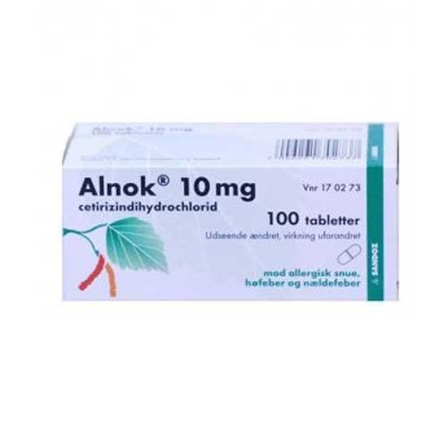 Alnok 10 mg, 100 stk