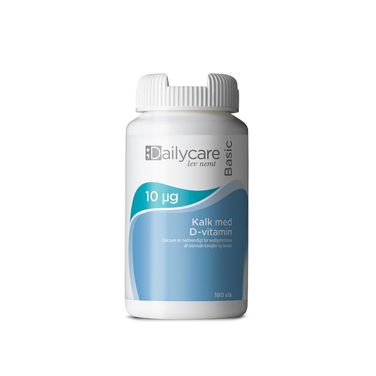 Dailycare kalk med D-vitamin, 400mg/10mikrg, 180 tabl.
