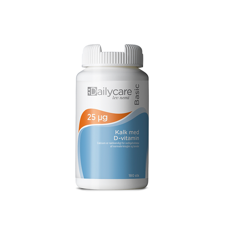 Dailycare kalk med D-vitamin 400mg/25mikgr., 180 tabl