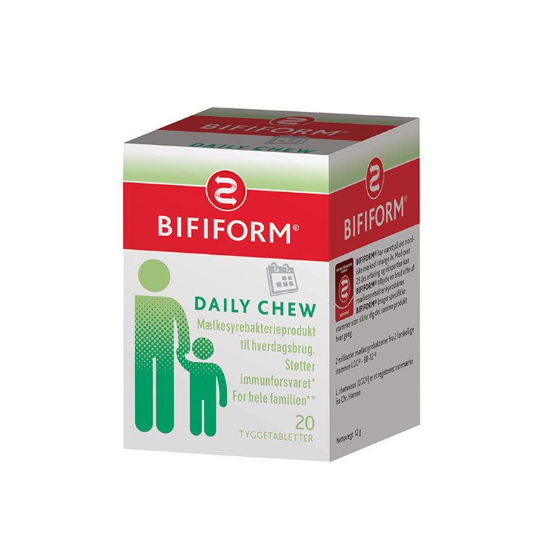 Bifiform Daliy Chew, 20 tabletter