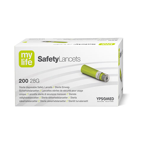 mylife Safety Lancetter 28G/1,5 mm, grøn, 200 stk.