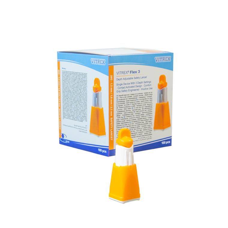 Vitrex® Flex 3 Orange 28G 1,3-2,3 mm, 100 stk.