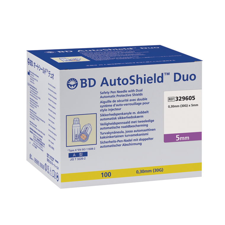 BD AutoShield sikkerhedspenkanyle 0,30 x 5 mm 30G