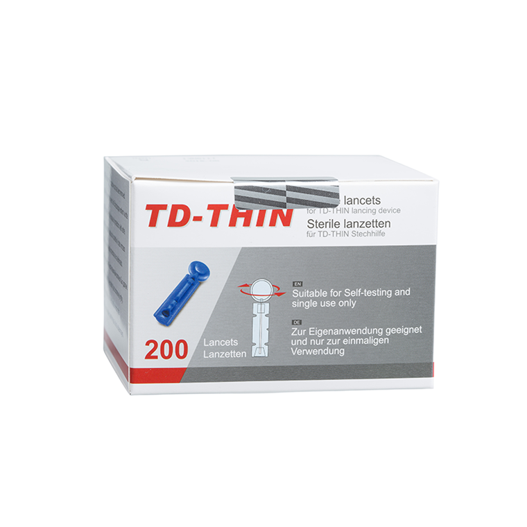 TD-Thin lancetter 200 stk. 30G